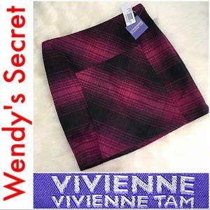 🆕 VIVIENNE TAM Purple Black Plaid Mini Skirt
